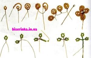 схема плетения цветочков