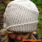 Вязанная спицами шляпка «Робин»