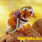 Утка-мандаринка из бисера