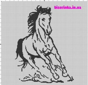как вышить лошадь