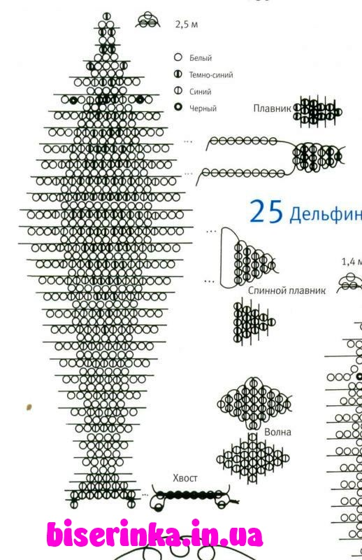 Схема плетения большого