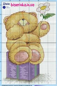 Медвежонок  ромашкой