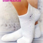 Носочки вязанные крючком
