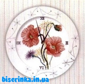 Часы с маками