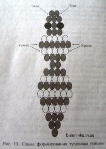 Схема плетения пчелы из бисера