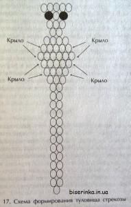 Схема плетения стрекозы из бисера